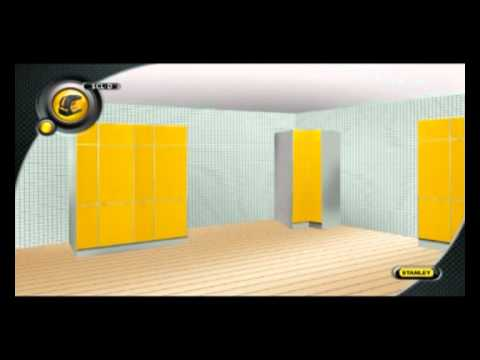 niveau laser croix automatique scl d stanley youtube. Black Bedroom Furniture Sets. Home Design Ideas