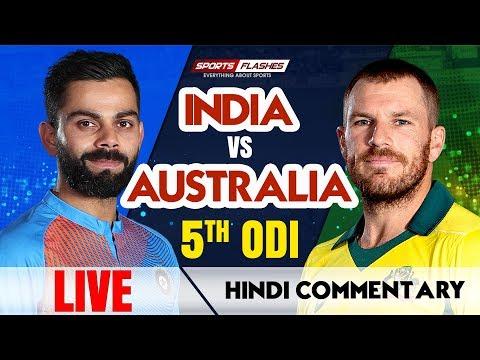 Live IND vs AUS 5th ODI Cricket Match | Live Scores | SportsFlashes