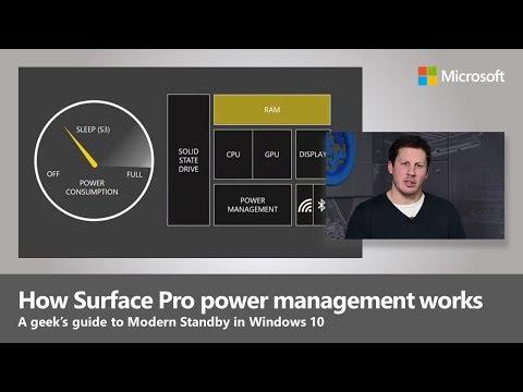 Understanding Surface Power Management with Modern Standby in Windows 10