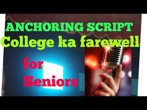 anchoring script for farewell party in english