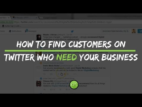 How to find customers on Twitter who need your business