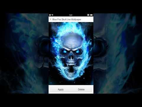 blue fire skull live