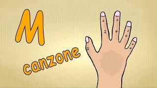 pronuncia italiana perfetta  - la lettera M -  alfabeto italiano per bambini canzone
