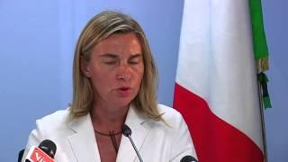 Ministro Mogherini Consiglio UE su Gaza