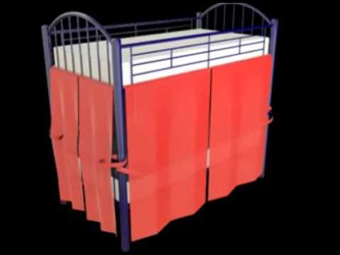 Zo WagnerHenninger Bunk Bed Privacy Method YouTube - Diy bunk bed curtains