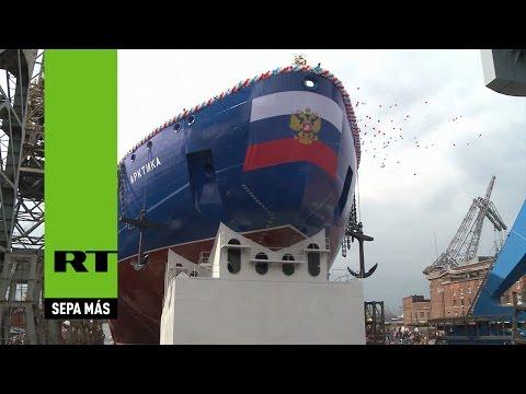 El legendario Árktika resucita: Rusia bota el rompehielos más potente del mundo