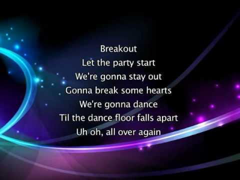 Miley Cyrus - Breakout, Lyrics In Video