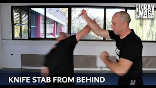 Krav Maga Technique of the Week: Knife Stab from Behind/Variation, with Amnon Darsa at IKMN