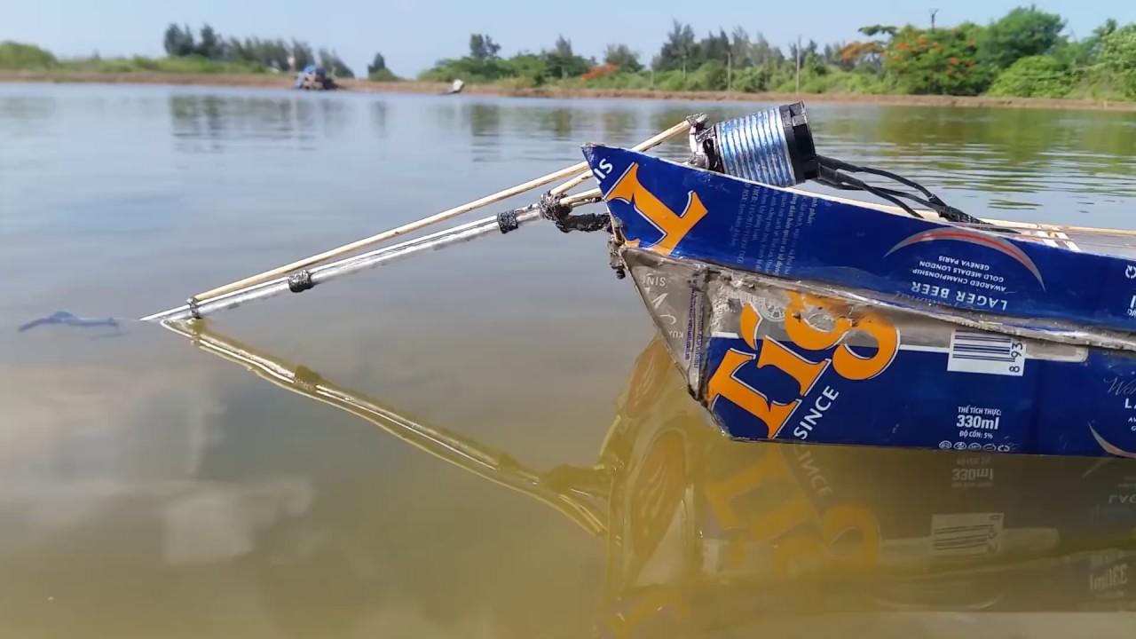 Chế mô hình tàu từ vỏ lon đuôi tôm kiểu Thailand