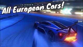 All European Season Cars! | Asphalt 9 European Season Multiplayer