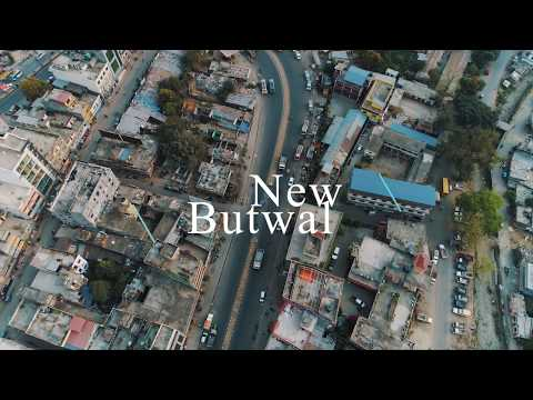 drone footage of butwal nepal 4k