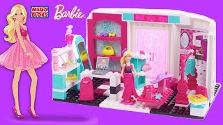 Mega Bloks Barbie Build N Style Fashion Bowtique With Barbie Dolls