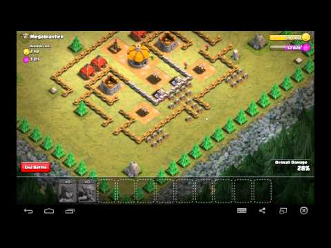 Megablaster - Town Hall Level 3 - 5 Goblins, 15 Archers - Simple Clash of Clans