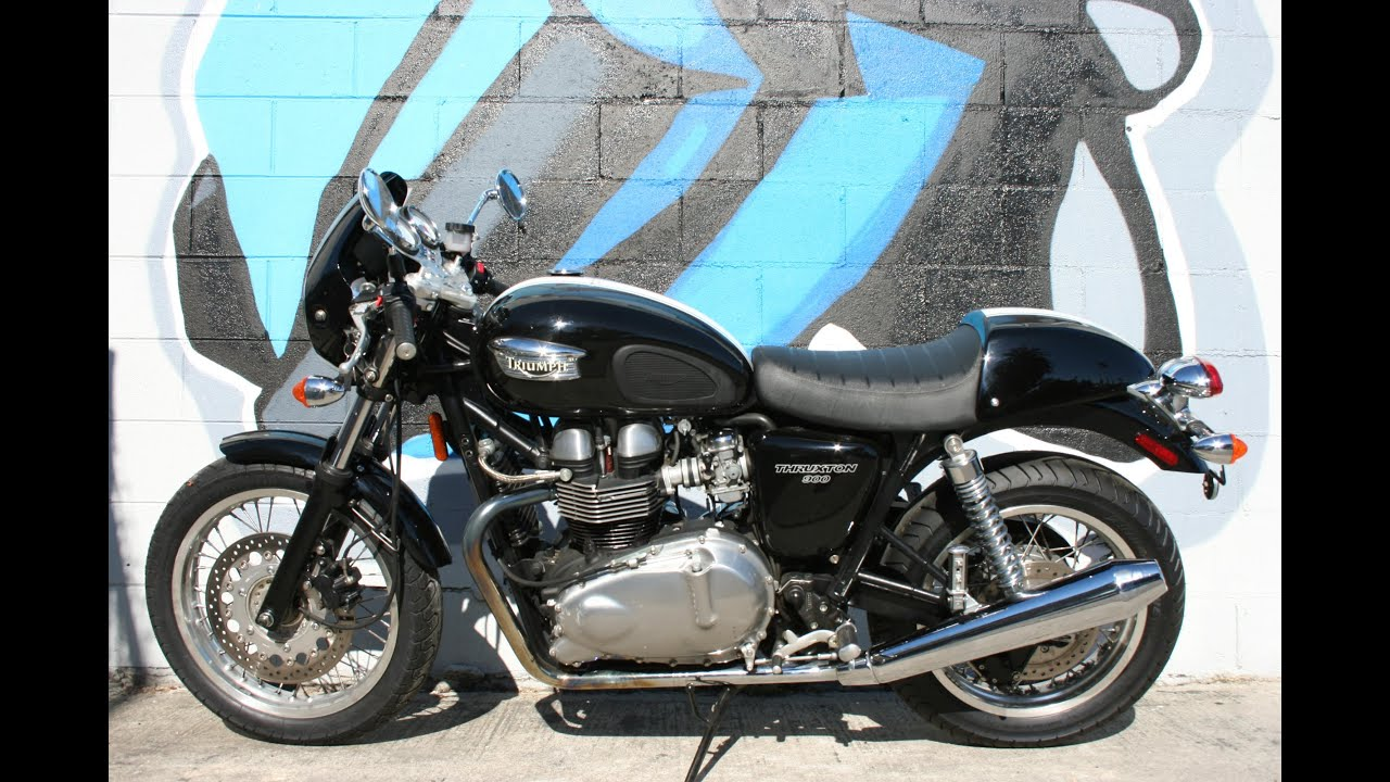 2007 triumph thruxton 900 motorcycle for sale youtube. Black Bedroom Furniture Sets. Home Design Ideas
