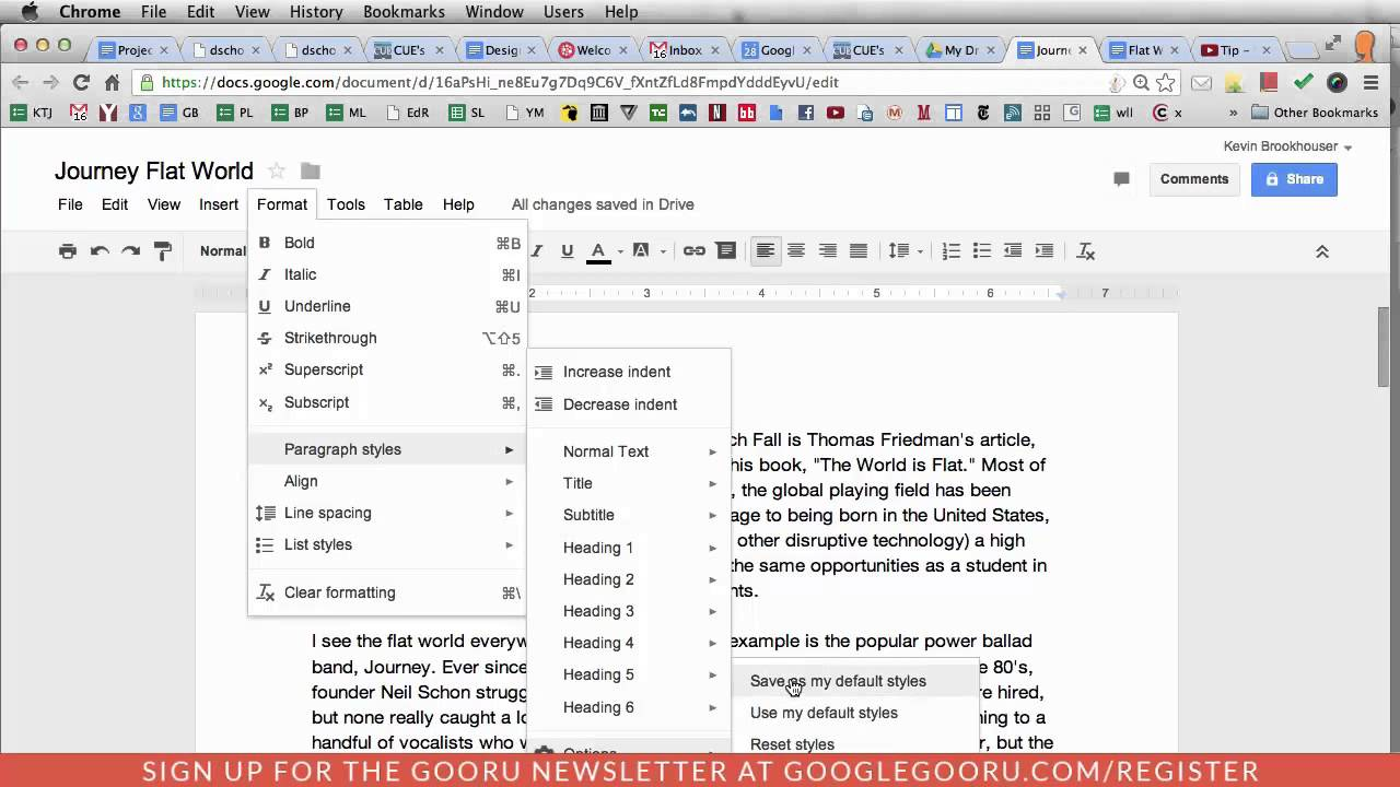 How to color in google docs - Change The Default Font In Google Docs