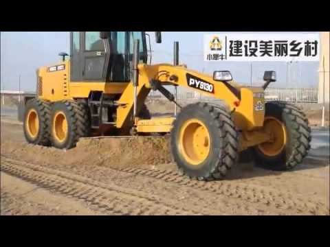 New Model Small Motor Grader PY9130 Review, Modern Road Construction Machinery