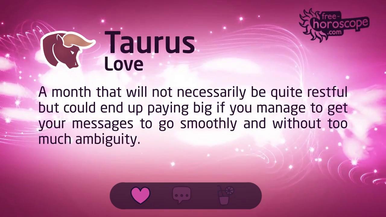 Taurus Horoscope for August 2017