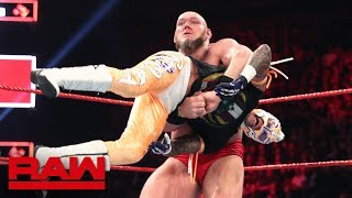 Lars Sullivan obliterates Rey Mysterio: Raw, April 15, 2019