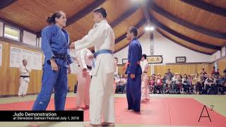 Judo Demonstration 2018 at Steveston Salmon Festival on Canada Day Richmond