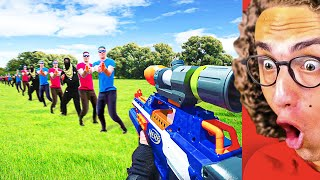 Reacting To INSANE NERF VIDEO GAME BATTLE!