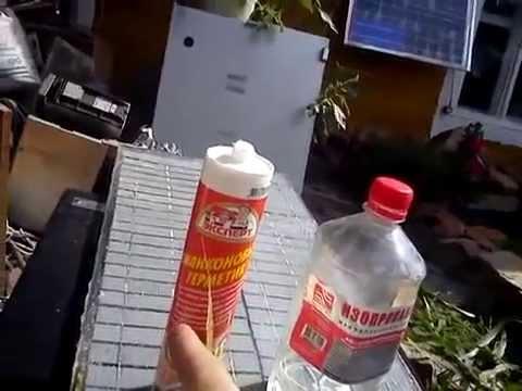 видео: Самодельный инкапсулянт для солнечных батарей, применение.