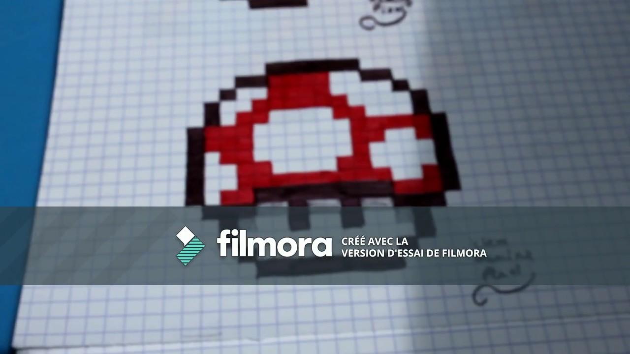 Tuto Dessin Pixel Champignon Mario Youtube