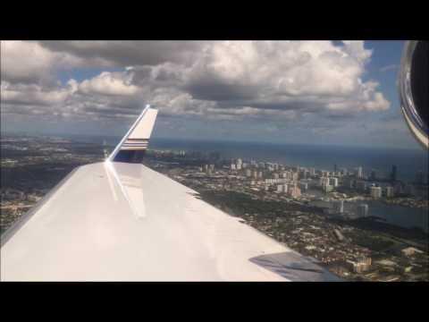 Gulfstream IV-SP Wing View Landing Opa-Locka Executive (KOPF)