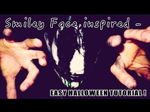 SMILEY FACE - inspired - EASY HALLOWEEN TUTORIAL  Max Amphetamine
