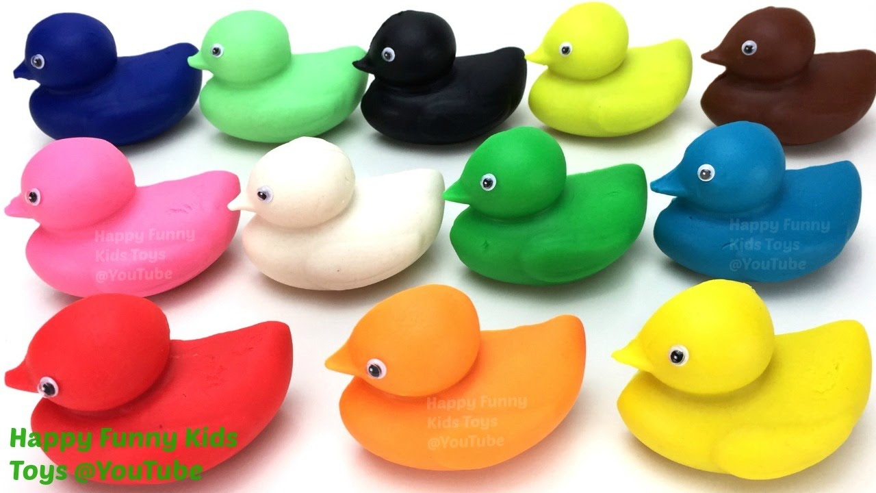 Learn Colours Learn Shapes & Numbers 1 to 9 with Play Dough Ducks ...