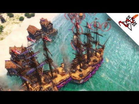Age of Empires 3 - 6P UNBREAKABLE AZTEC NAVY | Multiplayer Free For All
