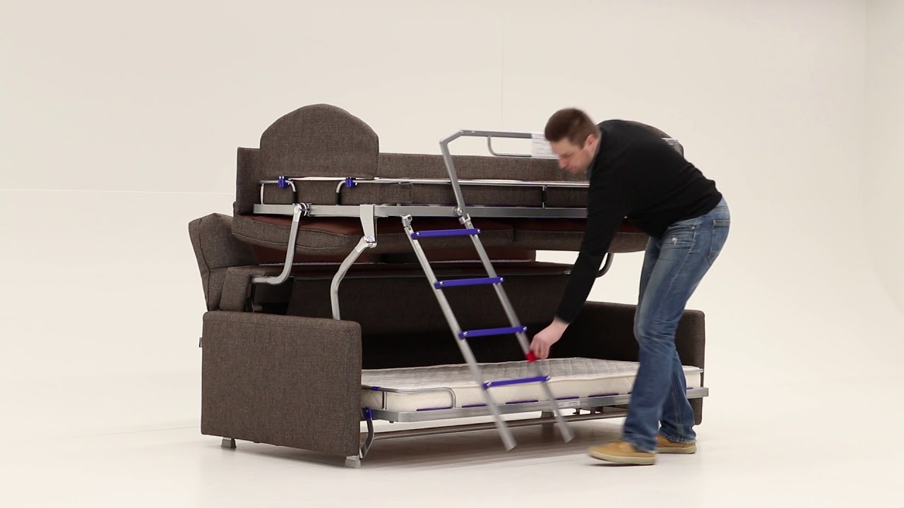Bettsofa Florida Elevate Bunk Bed Sofa Sleeper By Luonto Furniture
