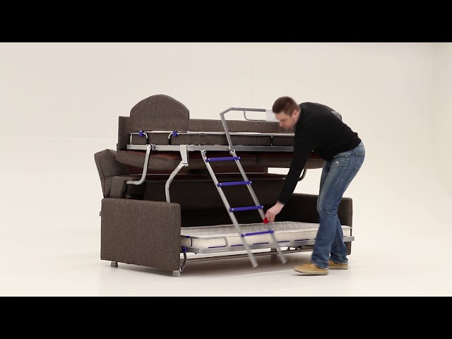 Elevate Bunk Bed Sofa Sleeper Youtube