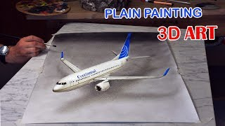 Flugzeug gemalt in 3D/speed drawing Zeichnung