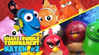Angry Birds vs Finding Dory Movie Toys Shake Rumble TOURNEY Match #2 by KIDCITY
