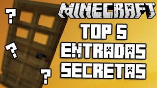 MINECRAFT - TOP 5 ENTRADAS SECRETAS PARA TU CASA