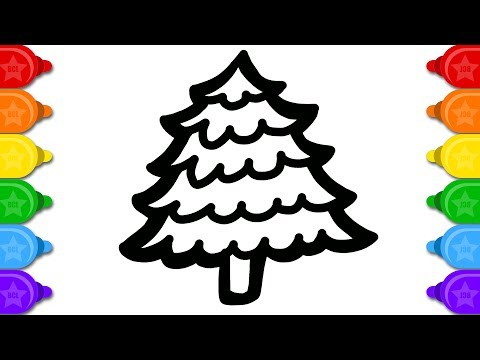 Fancy Christmas tree Colouring and Drawing for Children