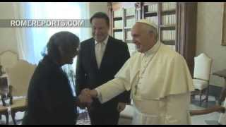 Pope Francis meets with President of Panama, Juan Carlos Varela | Pope