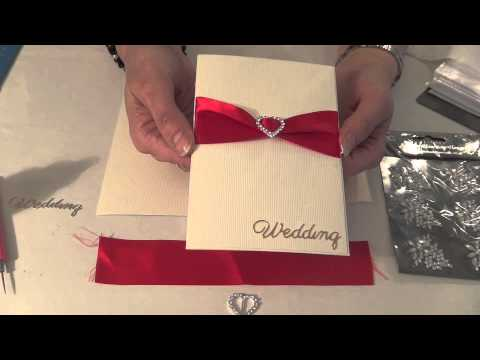 HOW TO MAKE YOUR OWN WEDDING INVITATIONS HANDMADE CARDS YouTube