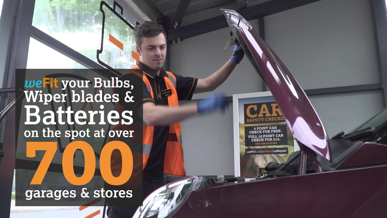 We Fit Your Bulbs, Wiper Blades and Batteries at our Stores and Garages | Halfords UK