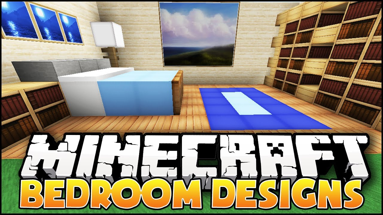 Cool Bedroom Ideas Minecraft Pe minecraft: bedroom designs & ideas - youtube
