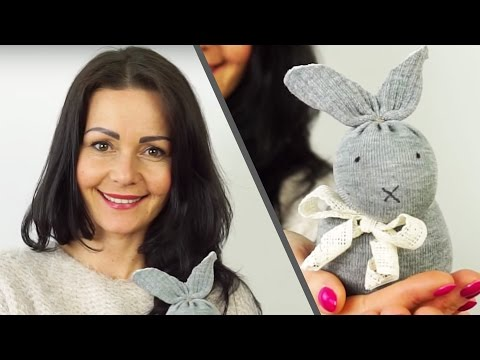 Cute No Sew DIY Sock Bunny