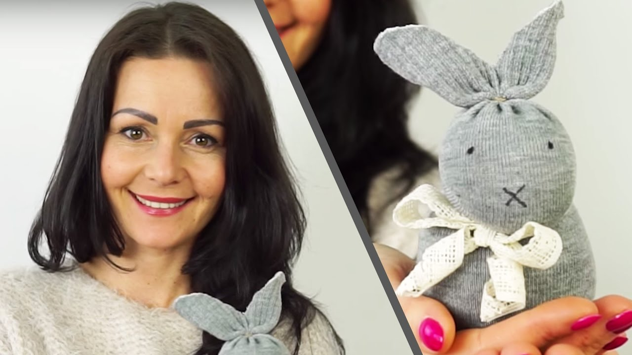 No Sew Sock Bunny Easter Craft Ideas 2 Youtube