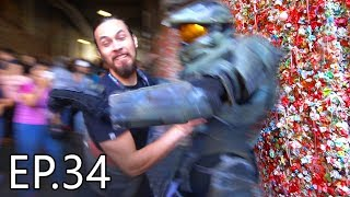 WORLD'S MOST DISGUSTING GUM WALL!!! (PaxWest 2018) | Living With Chief Ep.34