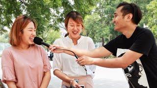 小伙中国街头恶搞假扮记者打路人脸,路人们都崩溃了!(趣味社会实验)
