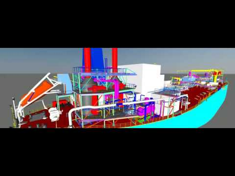 convert point cloud to actual model of FPSO