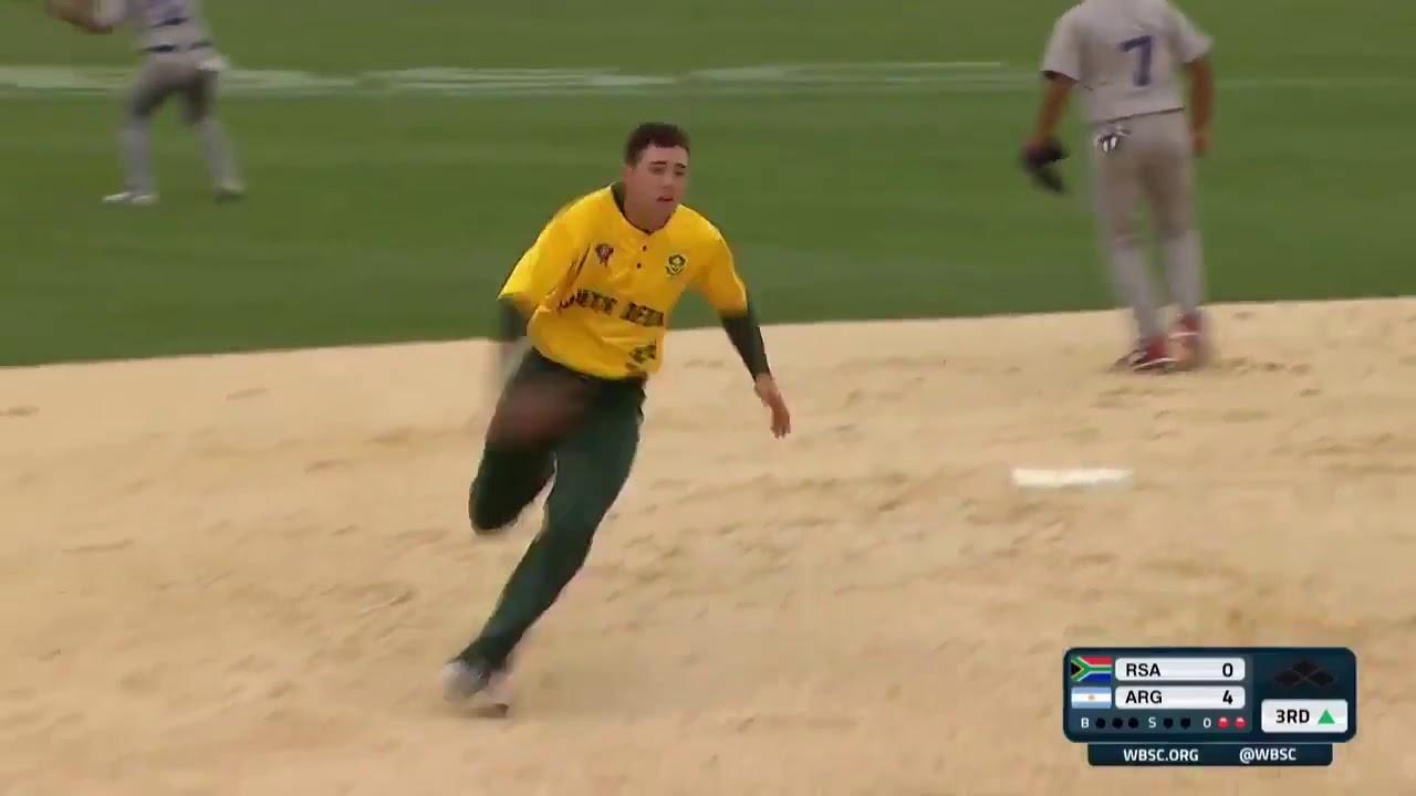 HIGHLIGHTS South Africa v Argentina - U-18 Men's Softball World Cup