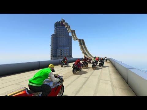 SE ME ESTROPEA LA MOTO!!! - CARRERA GTA V ONLINE - GTA 5 ONLINE