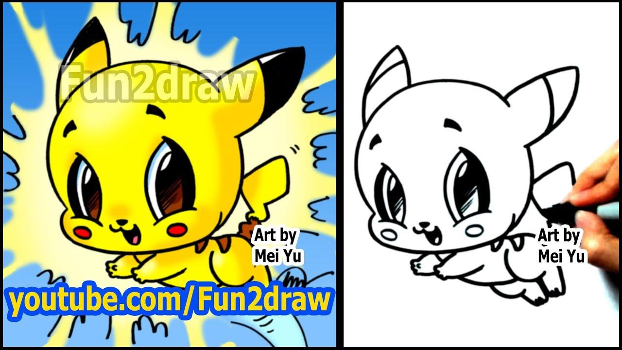 How to draw pokemon pikachu fun2draw style youtube for Fun to draw cute animals