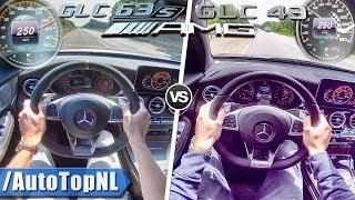 Mercedes AMG GLC 43 vs 63 S   0-250km/h ACCELERATION TOP SPEED SOUND & AUTOBAHN POV by AutoTopNL