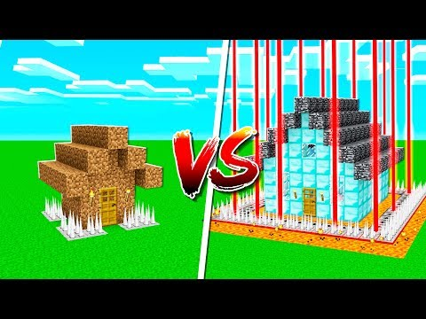 NOOB SAFEST HOUSE vs PROS SAFEST MINECRAFT HOUSE!
